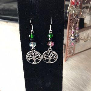 Hand made tree of life earrings